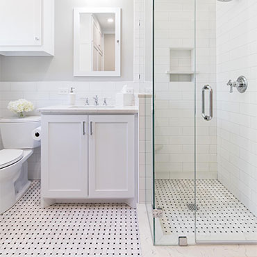 Greecian White Basketweave Tile